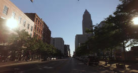 Driving on West Saint Clair Avenue in Cleveland Footage