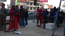Pre-earthquake street scene Kathmandu Nepal 2009 Footage