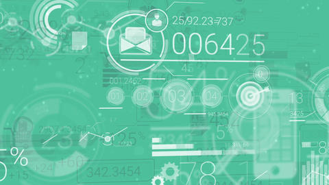 Corporate Background With Abstract Elements Of Infographics Animation