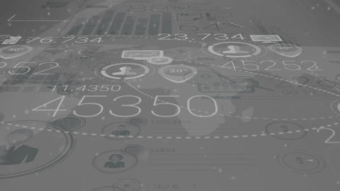 Corporate Background With Abstract Elements Of Infographics Videos animados