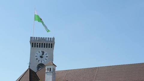 The castle of Ljubljana, Slovenia Live Action