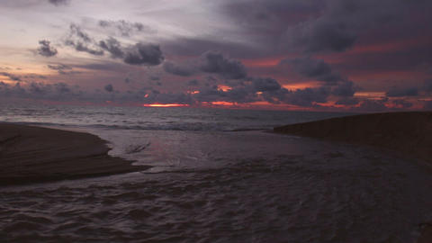 Sunset over the tropical beach Footage