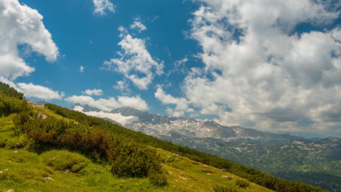 Clouds over the Alps. Time Lapse UHD Footage