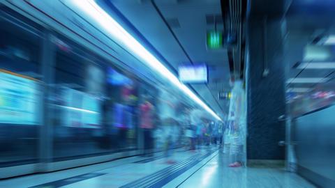 Hong Kong. Metro. Time Lapse UHD Footage