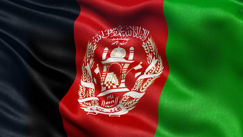 Afghanistan flag seamless loop, Stock Animation