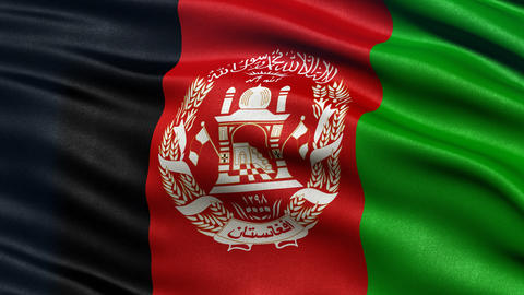 Afghanistan flag seamless loop Animation