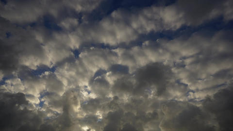 Scale cloud and mackerel sky (evening, time-lapse-empty) 影片素材