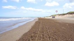 Sandy beach that can run in car (Japan, Chirihama Nagisa Driveway) Footage