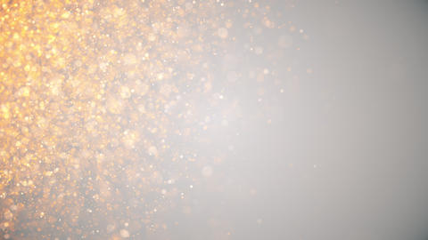 golden dust, light golden holiday background with glowing particles Live Action