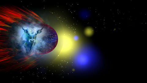 262 3D animated ZODIAC astrology symbol TAURUS Animation