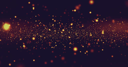 christmas red golden light shine particles bokeh loopable on black background, holiday Live Action