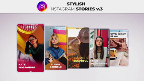 Stylish Instagram Stories v 3 After Effects Template