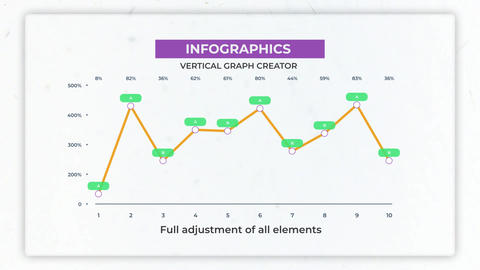 Infographics: Vertical Graph Creator Motion Graphics Template