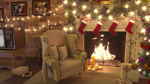 Old TV Christmas Winter Slideshow After Effects Template