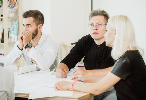Desperation and hopeless in faces of employees in project meeting Photo