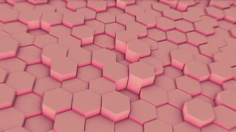 Abstract Hexagon Geometry Background, Hexagonal Pattern Randomly Waving Live Action