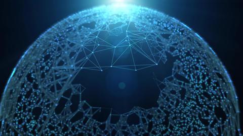 Fantasy Technology Loop Animation Plexus. Modern Graphic Background Business Concept. Futuristic Animation