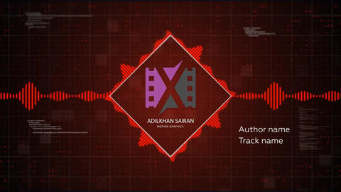 Digital Audio Spectrum After Effects Template