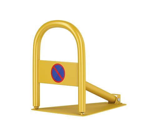 Yellow parking lock Photo