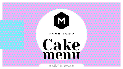 Elegant Cake Menu After Effects Template