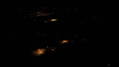 Planet Earth seen from the ISS. Space exploration of planet Earth at night Live Action