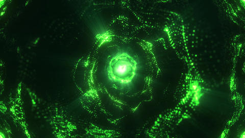 Abstract blue portal green Animation