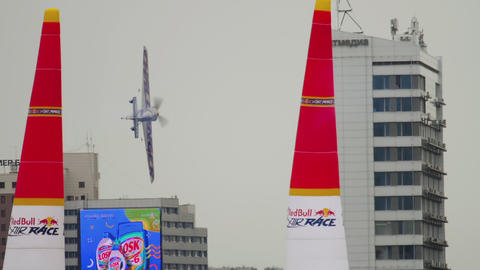 Red Bull challenge airplane at the stage Live Action