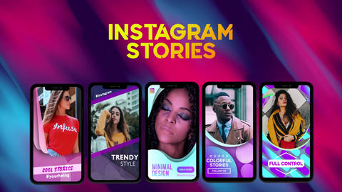 Shape Instagram Stories After Effects Template