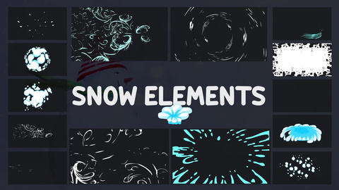 Cartoon Holiday Elements After Effects Template