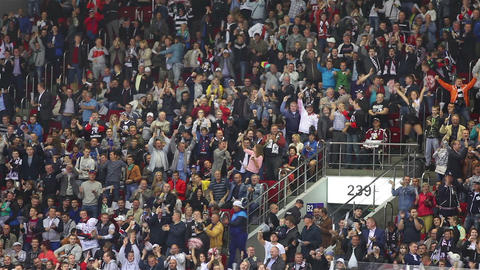 Fans Celebrate A Goal Footage