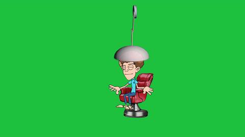 Fantastic Hair Style Machine: Cartoon Animation + Green Screen Animation