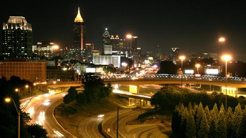 Downtown Atlanta Cityscape Time-Lapse Footage