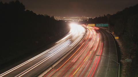Traffic On The 405 In Los Angeles Time Lapse Footage