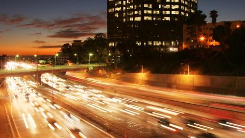 Los Angeles Freeway Traffic Time Lapse Footage