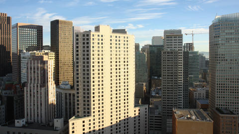 San Francisco Buildings Shadow Time Lapse Footage