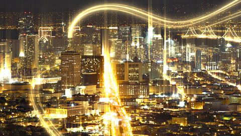 Cyber Data Downtown San Francisco Footage