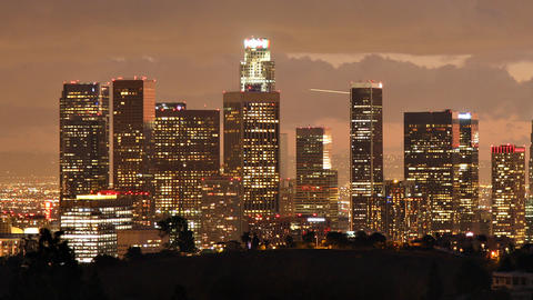 Los Angeles Skyline Time Lapse Footage