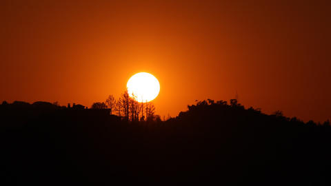 Sunset Landscape Time Lapse Footage