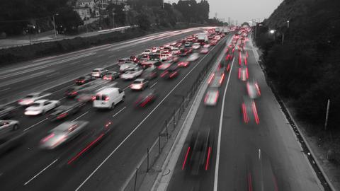 Black & White Traffic Time Lapse Footage