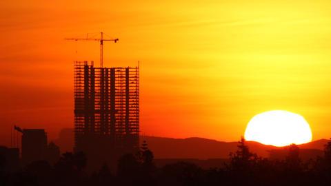 Construction Sunrise Time Lapse Footage