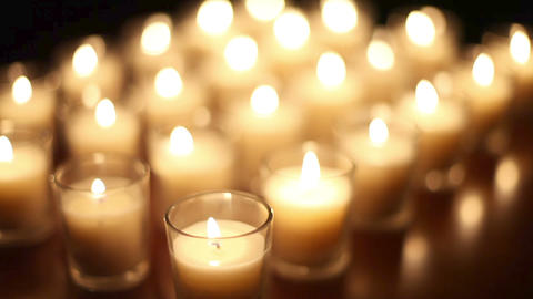 Loopable Votive Candles Background Footage