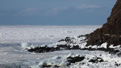 Frozen Ocean Hokkaido Japan ビデオ