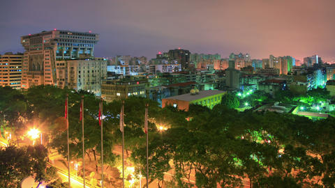 Taipei Night Time Lapse ภาพวิดีโอ