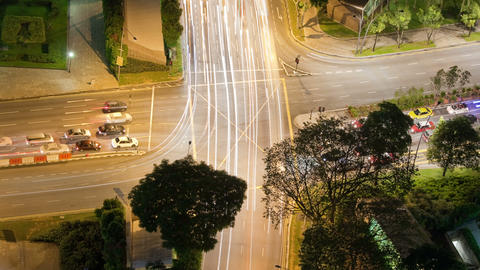 Time Lapse Traffic Intersection Footage