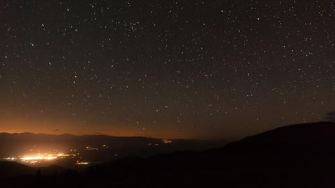 Night Starry Sky Time Lapse Footage