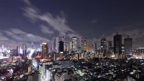 Shinjuku Skyline Night Time Lapse Footage