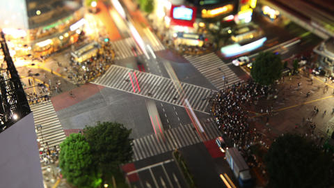 Shibuya Crossing In Tokyo Japan Footage