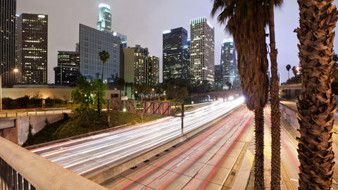 Los Angeles Freeway Time Lapse Footage