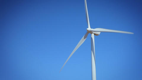 Wind Turbine In California Footage