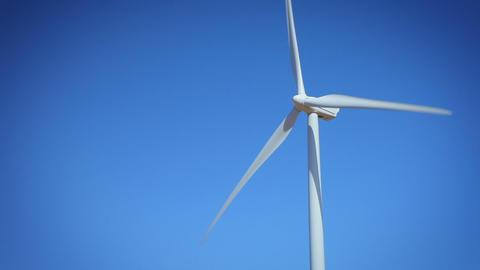 Wind Turbine In California Footage